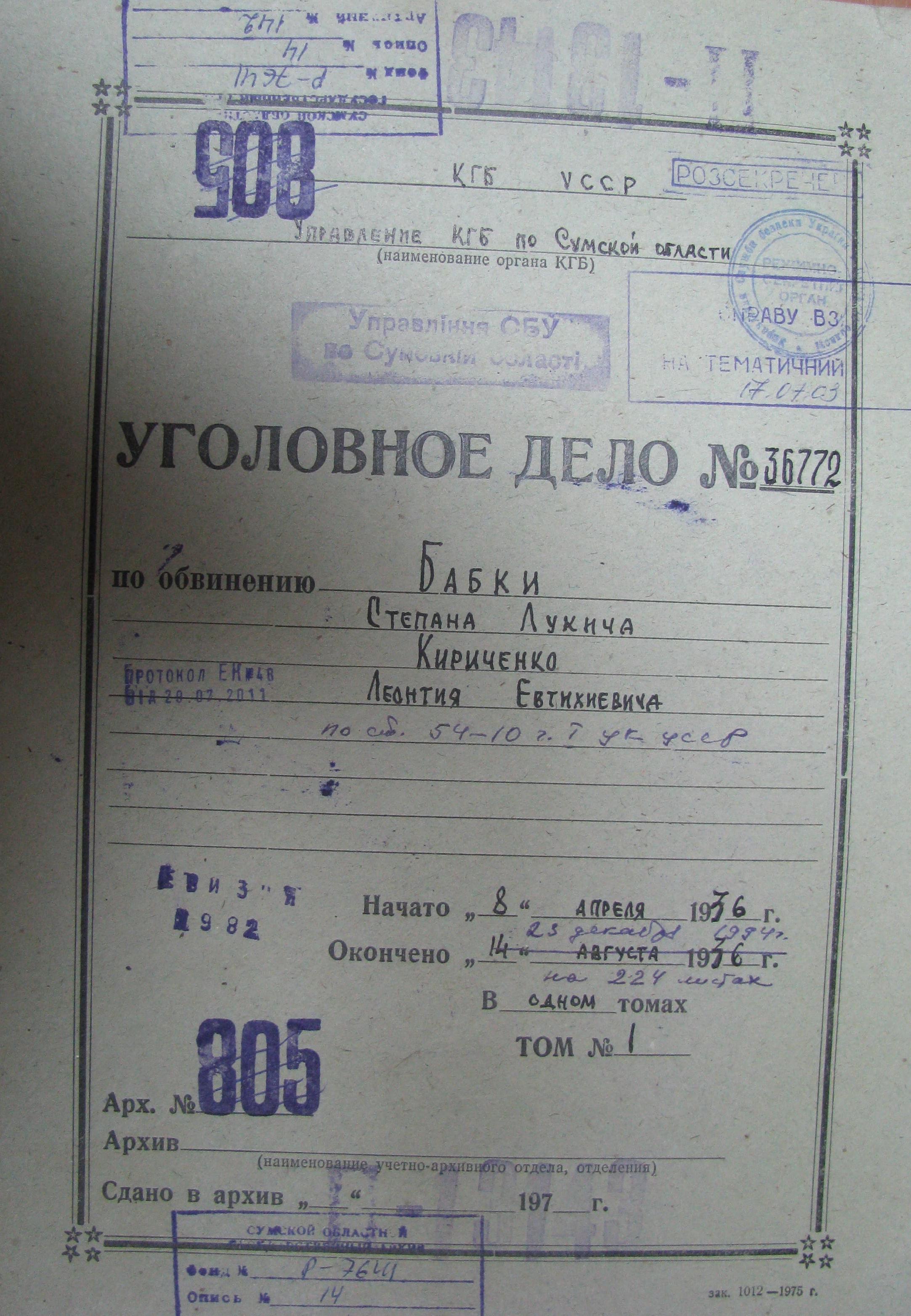бабка кириченко