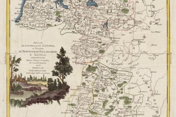 Ducati di Livonia, e di Estonia, e Governi di Nowogorod, Bielogorod, e Kiowia coi loro Distretti Nella Russia Europea [1782]