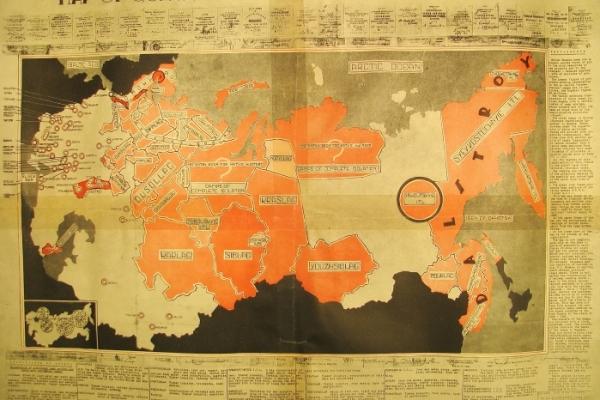 Map of concentration camps in Soviet Russia [Карта концентраційних таборів у Радянській Росії]