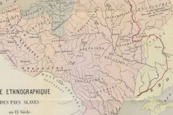 Етнічні межі Міжмор'я. IX ст.