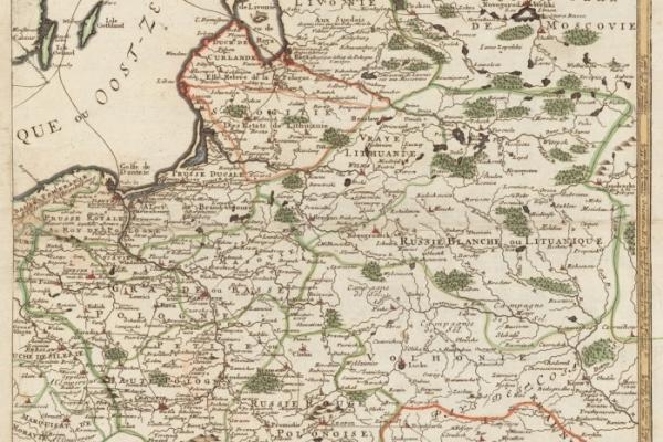 Карта Польщі в 1700 році [початок Великої Північної війни]