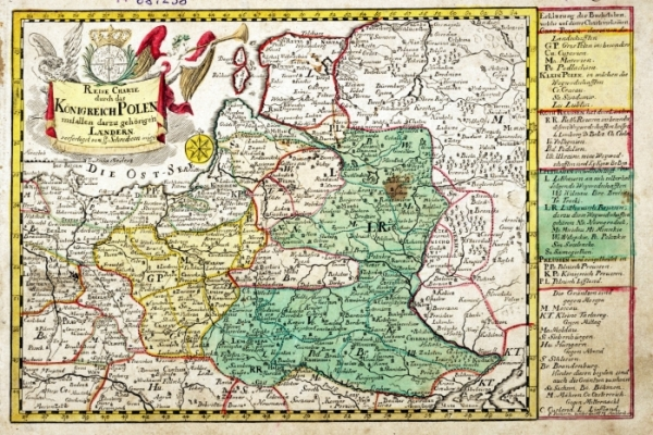 Reise Charte durch das Königreich Polen [1750]